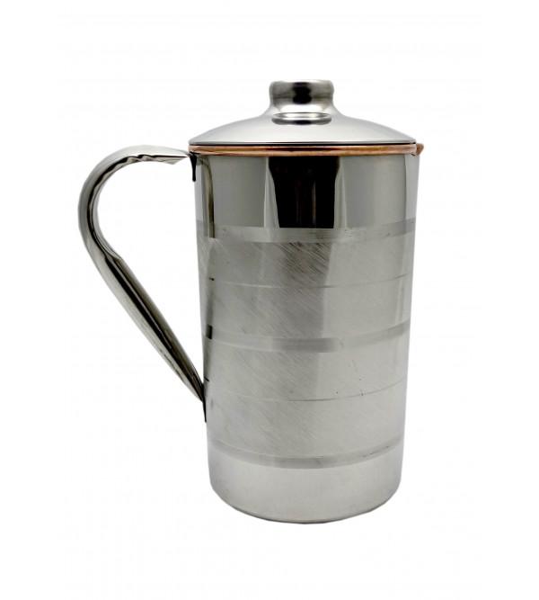 Brass Jug Copper & Steel Water Jug (2 L)