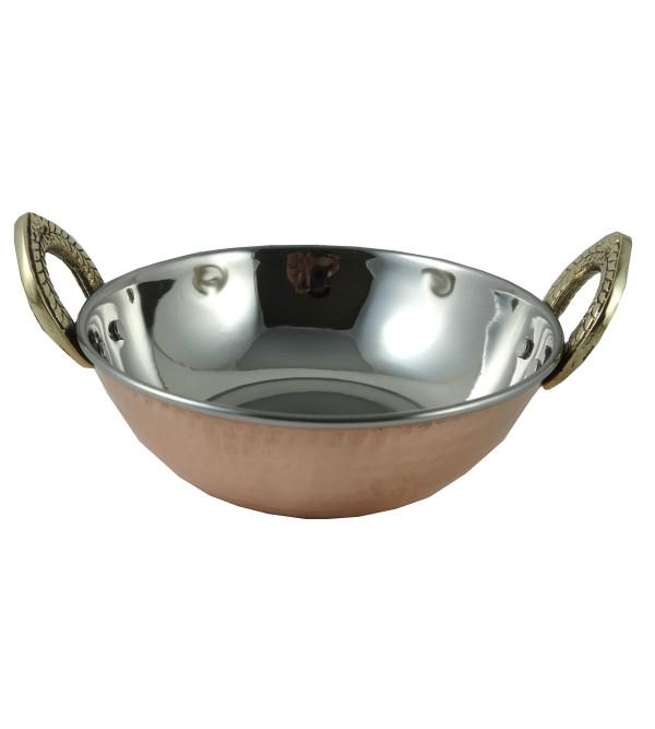 Handicraft Kadhai Copper Steel 5 INCH
