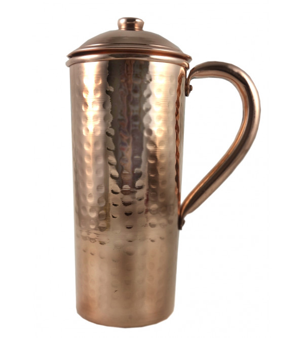 HANDICRAFT COPPER JUG HAMMER DESIGN 3X8 INCH