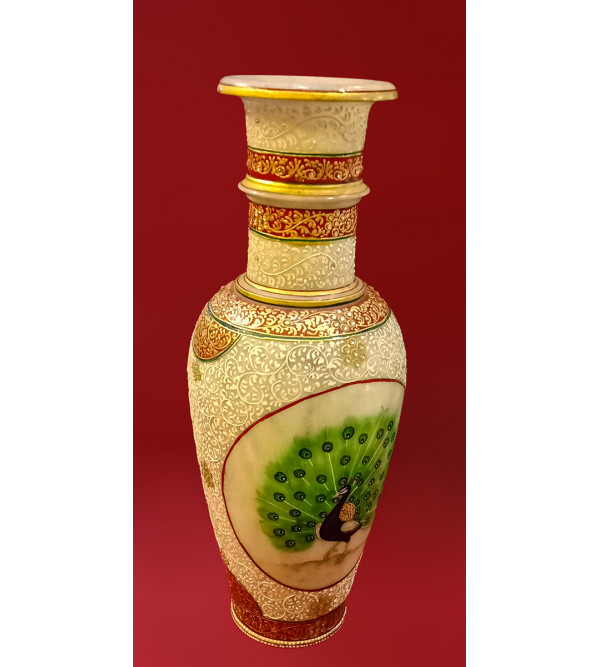 14X6 FLOWER VASE FLORAL REAL GOLD WORK ass design