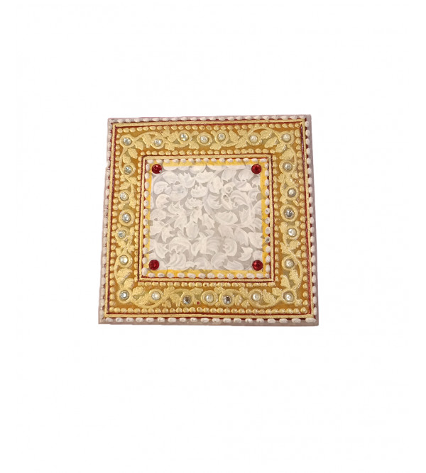 Chowki marble gold leaf 4 x4 inch