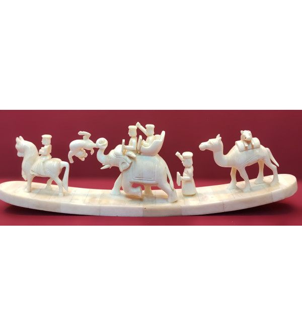 Animal Figures Handcrafted In Camel Bone