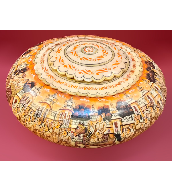 Camel Bone Handcrafted Opium Box Diameter 11 Inches