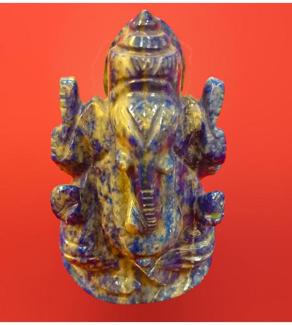 Ganesh Handcrafted In Lapiz Lezuli