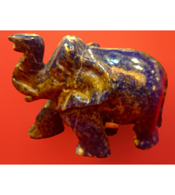 Elephant Handcrafted In Lapiz Lezuli Size 1.5 Inches