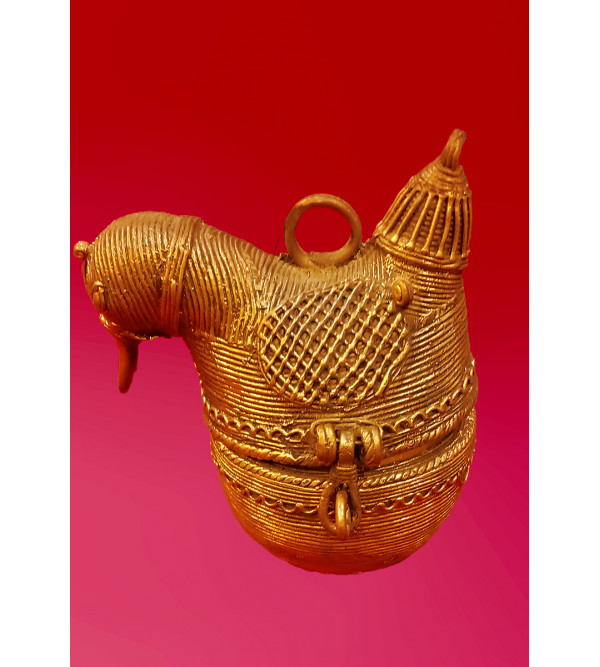 Duck Shaped Box Handcrafted In Dhokra