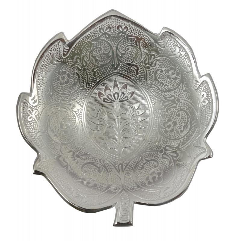 Handicraft Brass Silver Plated Bowl Kamal  7 INCH