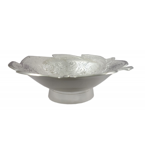 Handicraft Brass Silver Plated Bowl 7 INCH