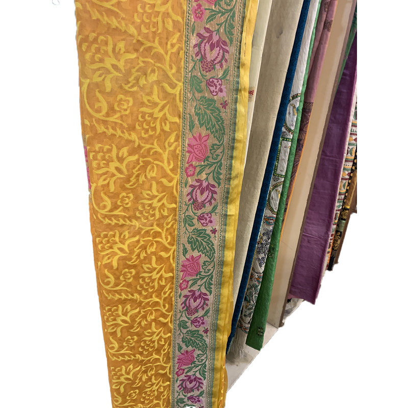 Katan Silk Handloom Banaras Zari Saree with Blouse