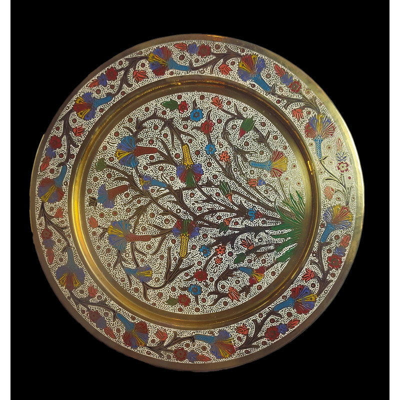 Wall Plate Brass Enameled  Color