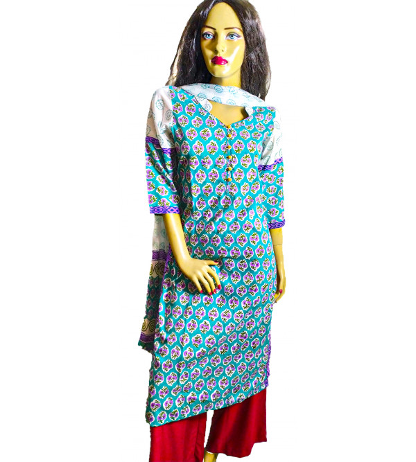 Cotton Salwar Kurta Dupatta Set