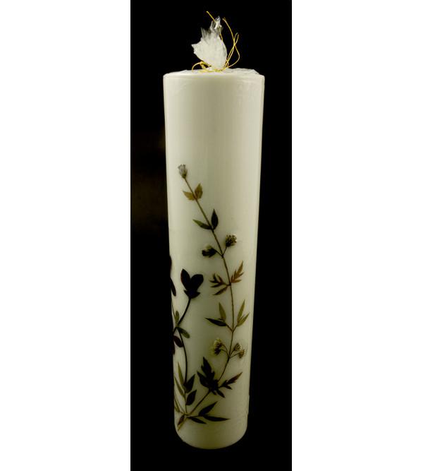 HANDICRAFAAT ASSORTED FLOWER FRAGRANCE  CANDLE CYLINDER SHAPE