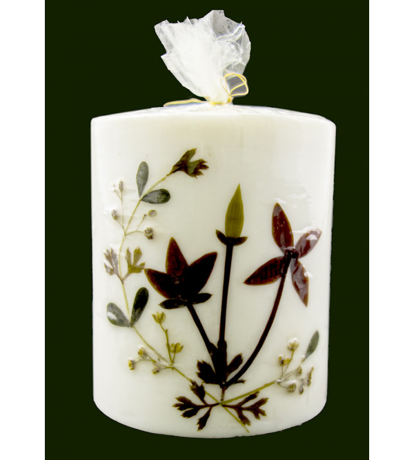 HANDICRAFAAT ASSORTED FLOWER FRAGRANCE CANDLE CYLINDER SHAPE