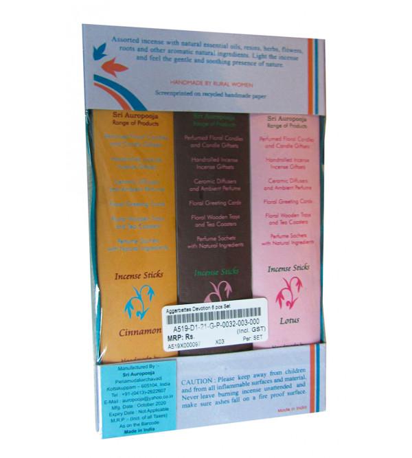 Agarbatti Divine 6 pcs Set With Assorted Fragrance