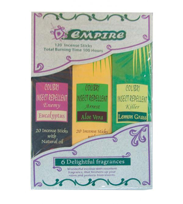 Empire Agarbatti 6 Pcs Set 120 Sticks With Assorted Fragrance