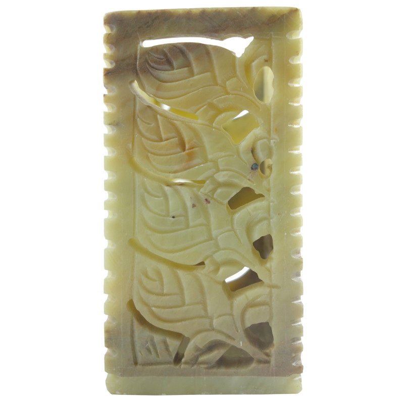 HANDICRAFT PEN STAND SOAP STONE 4X2 INCH