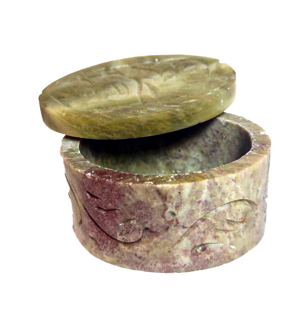 Soap Stone Round Box Size 6 Inch