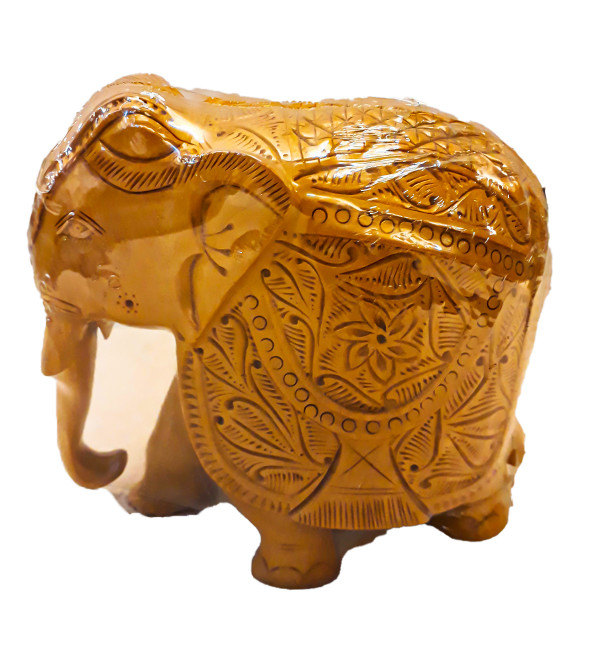 ELEPHANT CARVED 6 INCH