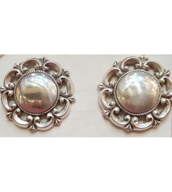 Silver Earring Oxidized
