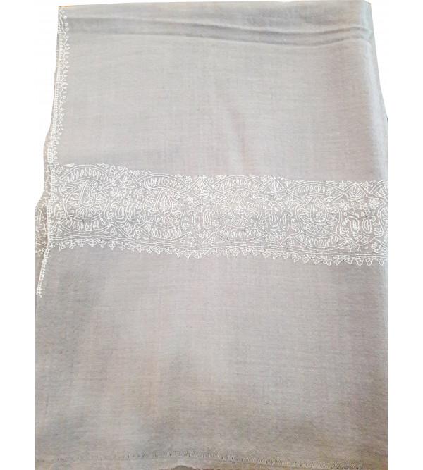 Woollen Palludar Stole Hand Embroidered in Kashmir Size,28X80 Inch