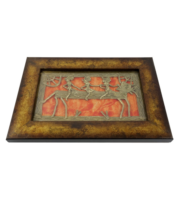 HANDICRAFT DHOKRA PANEL 8X5 INCH ASSORTED