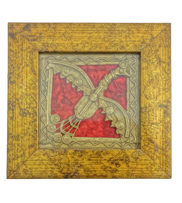 Handicraft Dhokra Panel 4x4 Inch Assorted Frame