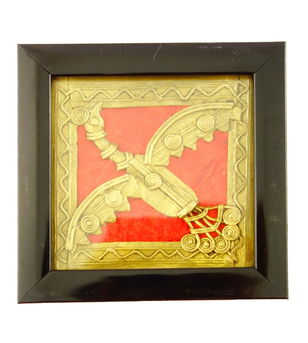 Dhokra Panel Handcrafted Coaster Size 4X4 Inches