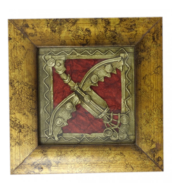 HANDICRAFT ASSORTED DHOKRA 4X4 SINGLE FRAME PANEL 5X5 INCH