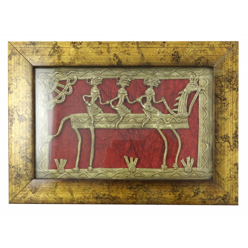 Dhokra Handcrafted Panel Framed Size 8X5 Inches