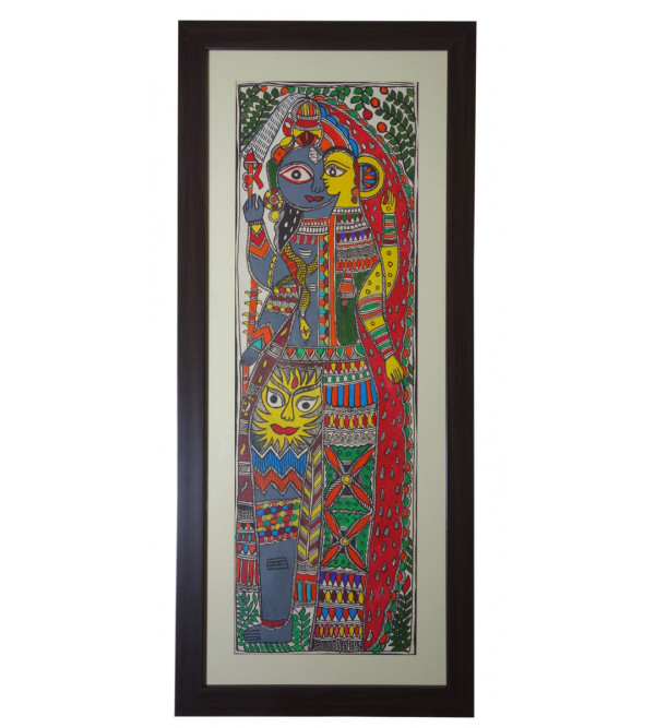 Madhubani painting  one forthframed