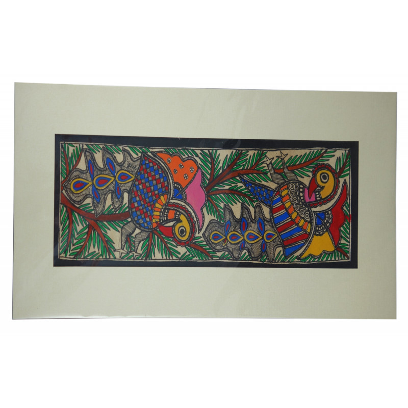 Madhubani painting  onesixteen mounted