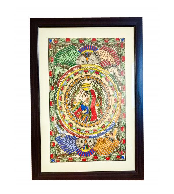Madhubani painting  with frame