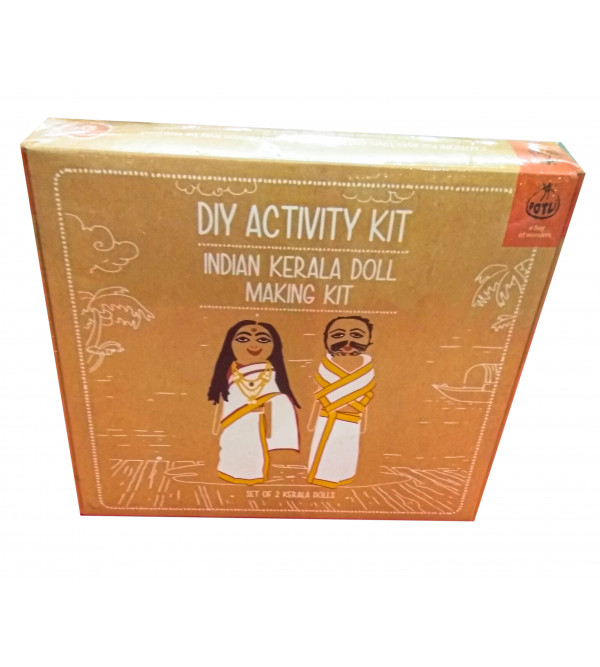 INDIAN DOLL MAKING KIT WIT TRA COSTUMES