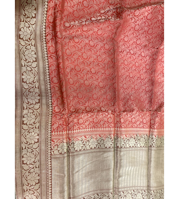 Banaras katan silk zari saree with blouse