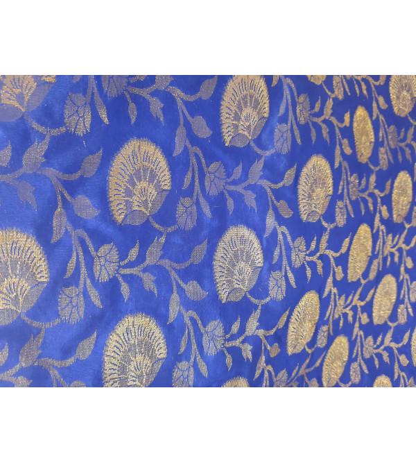 Handwoven Katan Silk Zari Fabric Silk Banaras Width 44 Inch