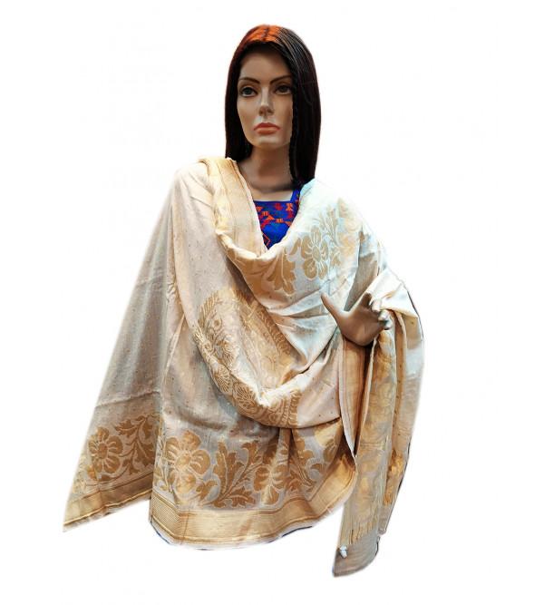 Muga Silk Handwoven Dupatta from Banaras