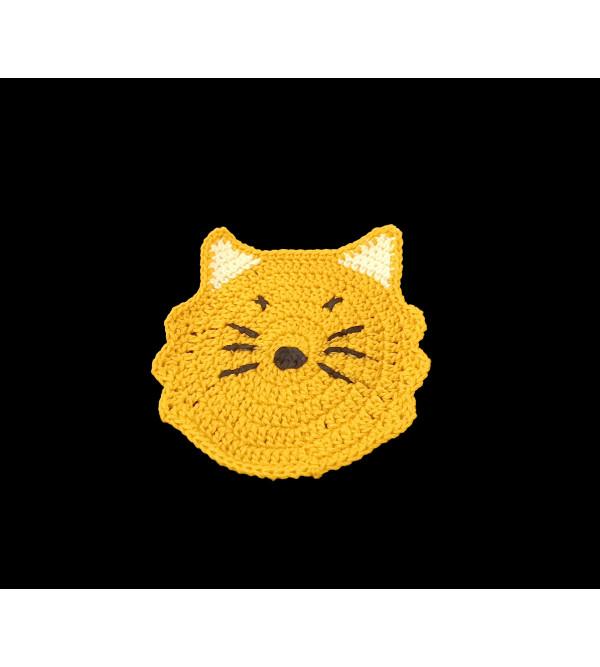 Cotton Handmade Crochet Coaster Size 4 Inch