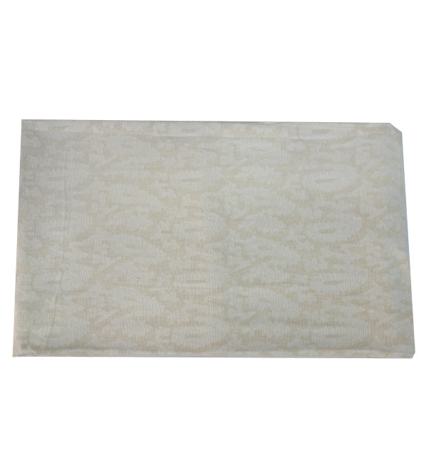 VARANASHI 72X108 INCH COTTON  CUTWORK OFF WHITE TABLE COVER