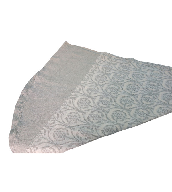 VARANASHI 90 INCH ROUND COLOURED COTTON CUTWORK TABLE COVER