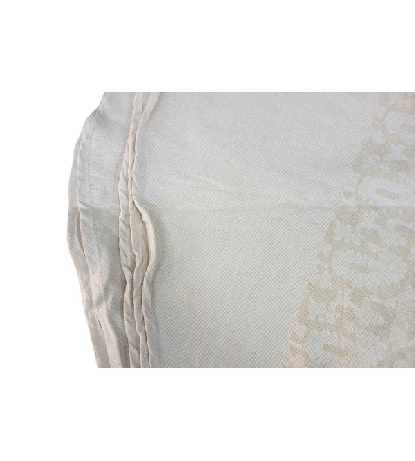 VARANASHI 72 INCH ROUND OFF WHITE COTTON CUTOWRK TABLE COVER