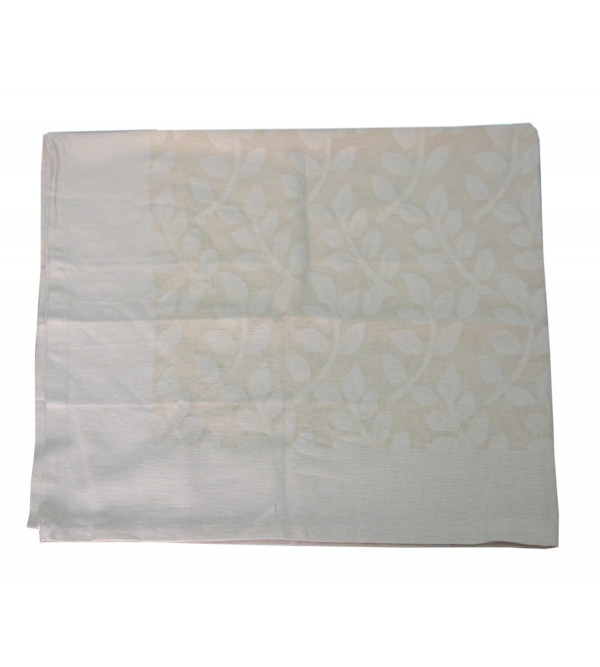 VARANASHI 45X45 INCH COTTON  CUTWORK OFF WHITE TABLE COVER