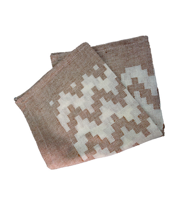 VARANASHI 16X16 INCH COLOURED COTTON CUTWORK NAPKIN SET