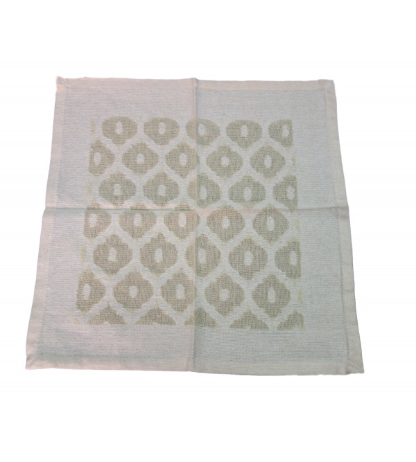 VARANASHI 16X16 INCH COTTON  CUTWORK OFF WHITE NAPKIN SET