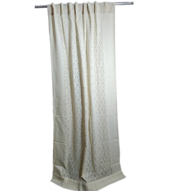 cotton cutwork Handwoven Curtains from Varanasi Size 44x60 Inch