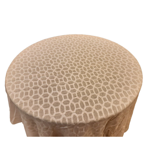 72 INCH ROUND OFF WHITE COTTON CUTOWRK TABLE COVER