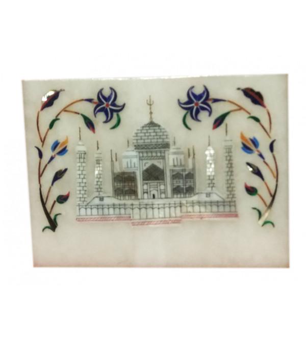 Marble Box with semi precious stone inlay Size 4x3 inch