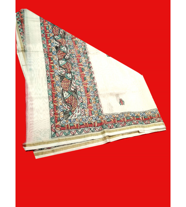 Chanderi Handwoven Dupatta From Banaras
