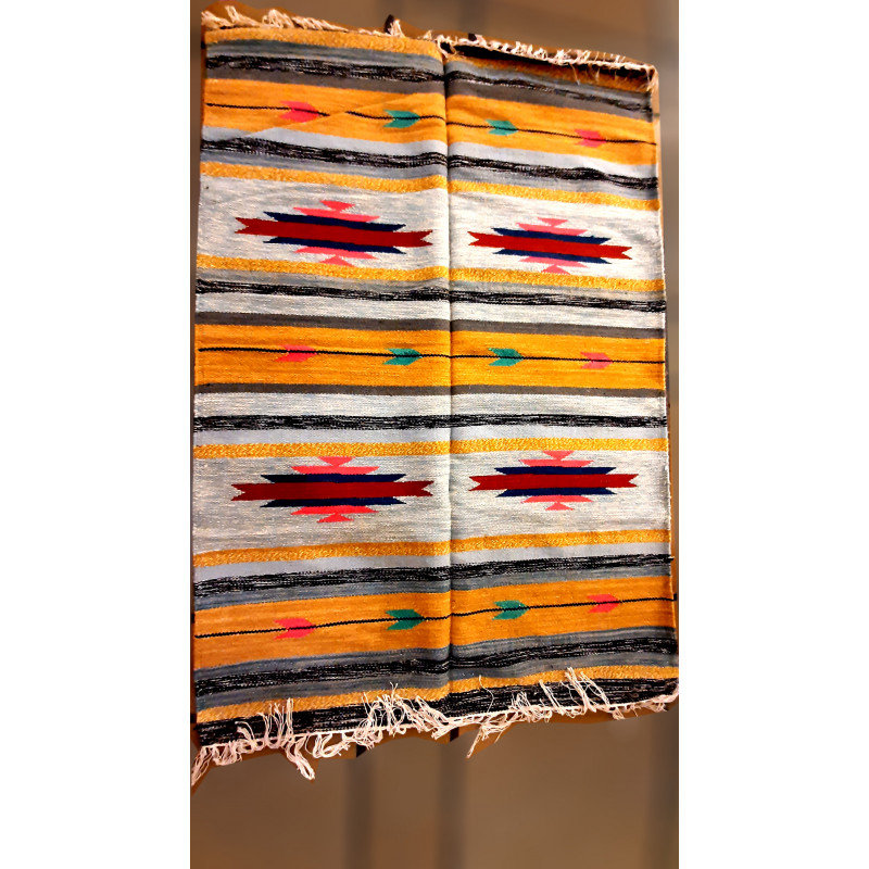 Woolen Handwoven Durries  from Mirzapur Size 4 ft x 6 ft