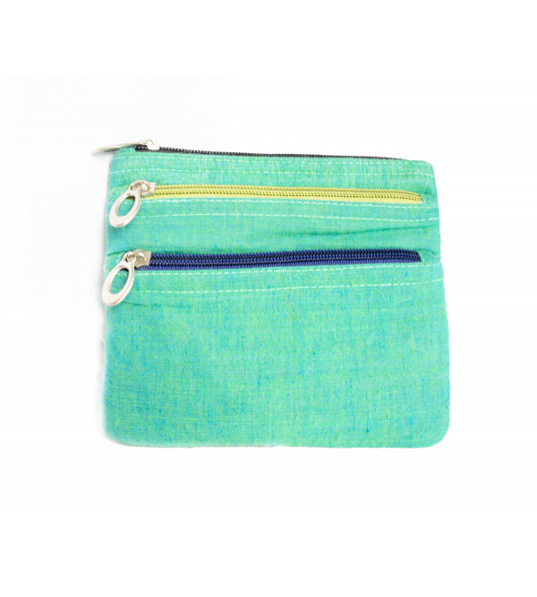 CCIC Plain Cotton Wallet with 3 Pockets Size 5x6 Inch