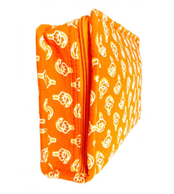 CCIC Cotton Zipper Bag With Multiple Inside Pockets Size 25x16x8 Cm